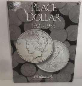 ALBUM COLECCIONADOR PEACE DOLLAR 1921 AL 1935
