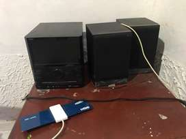 Mini componente con tv