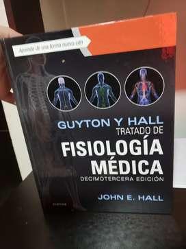 Libros medicina, Fisiología Guyton, Antomía Moore, Atlas anatomía Netter originales