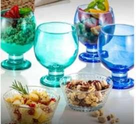 Espectacular set de copas y pasanteras