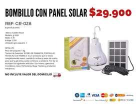 Bombillo con panel solar.