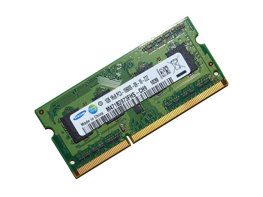 Memoria notebook Samsung 1GB 1Rx8 PC310600S0910ZZZ 0