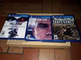 Vendo 3 juegos de PS4 baratos