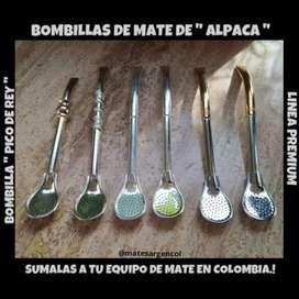 """BOMBILLAS DE MATE DE """" ALPACA """" ! LINEA PREMIUM !"""
