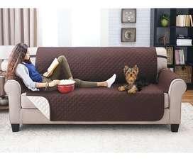 Protector Sofá Forro Protector Muebles 3 Puestos Doble Faz
