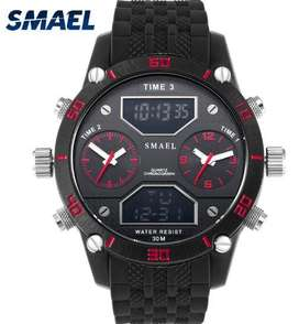 Reloj Militar Smael 1159 Marca de Lujo Resistente al Agua