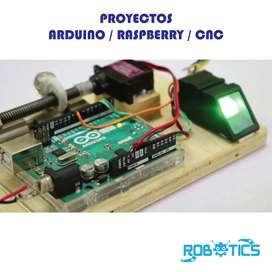 PROYECTOS DE ELECTRONICA, ARDUINO, RASPBERRY, CNC, IMPRESION 3D