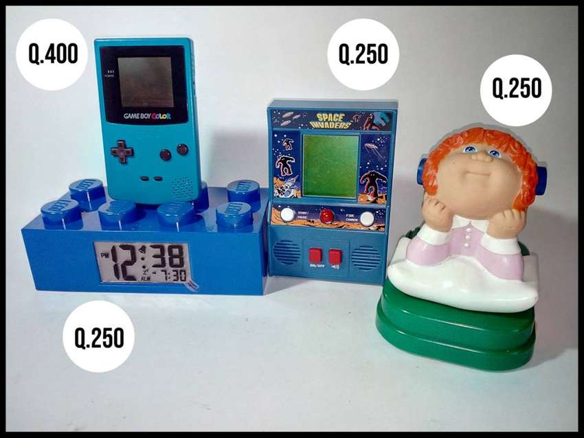 Gameboy Color De Nintendo, Game boy, Gabbage Patch Radio, Reloj De Lego con Luz, Space Invader, Mini Arcade 0