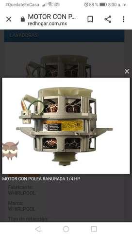 MOTOR CON POLEA RANURADA DE 1/4HP