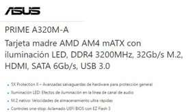 Vendo Board Asus Prime A320M-A