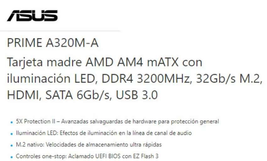 Vendo Board Asus Prime A320M-A 0
