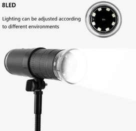 Microscopio Digital Inalámbrico Wifi 50-1000x Real 8 Led Con Soporte Profesional