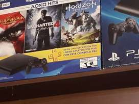 PS4 Slim + 3 Juegos Fisicos + 5 Juegos Digitales