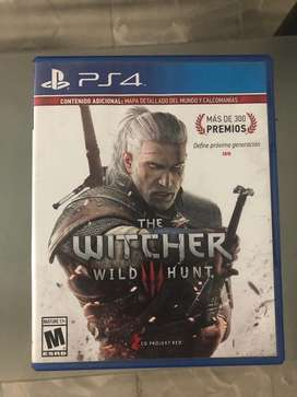 Juego para ps4 the witcher wild hunt