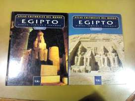 Atlas cultural de Egipto 2 volumenes Dioses, Templos y Faraones