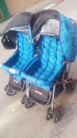 Paseador doble para bebes