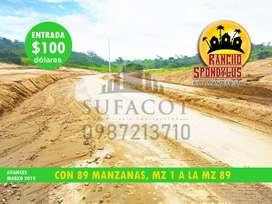 QUINTAS RANCHO SPONDYLUS, VENTA DE LOTES A CREDITO CON 100 USD DE ENTRADA Y PAGA TU CUOTA DESDE FEBRERO 2020, SD1