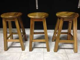 sillas en madera
