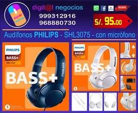 Audífonos con micrófono marca PHILIPS modelo SHL3075