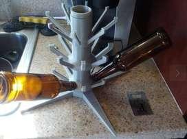 Arbol Recipente Secador 40 Botellas Cerveza Artesanal Vino