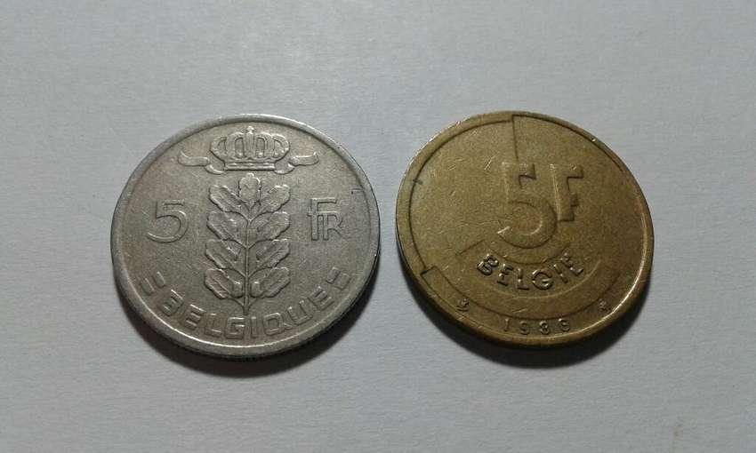 Lote Dos Monedas de Belgica Antiguas