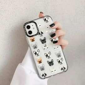 Forro Case iPhone antichoque juvenil bulldog