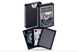 Cartas Bee Silver Stinger Abeja Casino Cara Y Dorso Negro