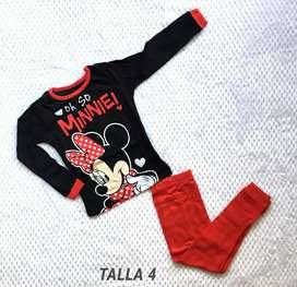 Pijama Minnie talla 4