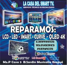 REPARACION DE TELEVISORES SMART TV 4K LCD LED NANOCELL QLED