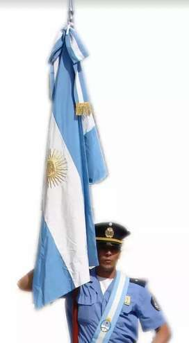 Bandera de Ceremonia Argentina. Articulos Patrios. Fabricante