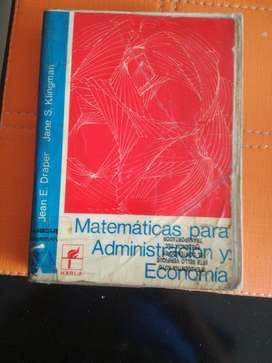 Matematicas para Admon Y Economía