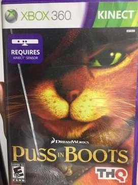 Videojuego gato con botas para kinect