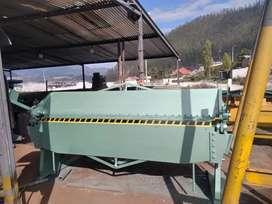 Dobladora de tool de 2.45 metros capacidad de doblez 2 mm