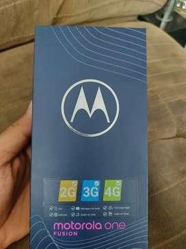 Venta de celular Motorola one fussion