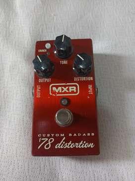 Pedal guitarra MXR Custom Badass 78 Distortion
