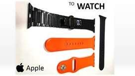 2 pares Pulso Apple Watch 42mm Y 44mm En Silicona y Metalica Manilla Correa