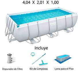 Piscina Armable Bestway 4,04 x 2,01 x 1,00 Mts