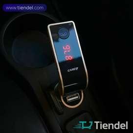 Modulador para Carro CargG - Transmisor FM, USB/MicroSD, Bluetooth, Au