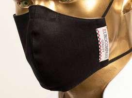 mascarillas reutilizable  con logo bordado 4 capas con filtro interno y clip nasal de calidad al por mayor y menor