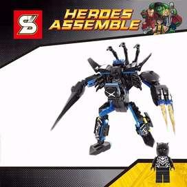 Mini Figuras Lego Heroes Pantera Negra Black Panther Sy248A