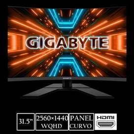 MONITOR (HUB3114) GIGABYTE G32QC GAMING