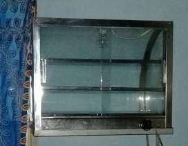 vitrina mantiene calor de alimentos, calienta