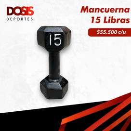 Mancuerna/Pesa en hierro 15 Libras Hexagonal