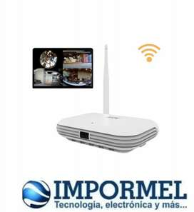 Nvr Wifi Onvif 4ch Hd 5mp 360 Panoramica Inalambrica