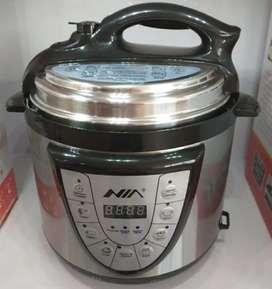 Olla eléctrica multifuncional 7 en 1 cocina, dora, vaporiza, baja y alta presión- capacidad 4 litros