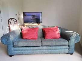 Sofa tipo tela Yacar azul