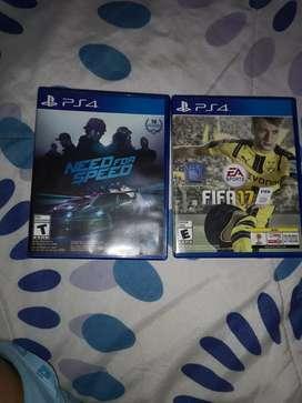 2 Juegos de play 4