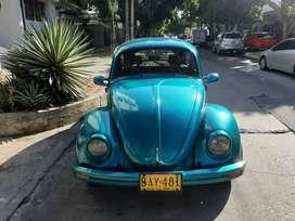 Volkswagen Escarabajo Azul 1100 cc modelo 1964
