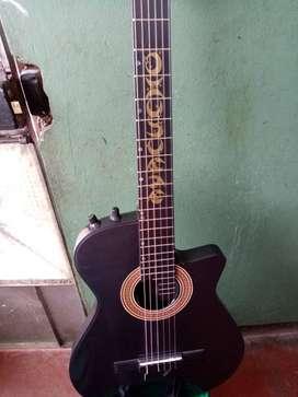 vendo una guitarra semi profesional negociable