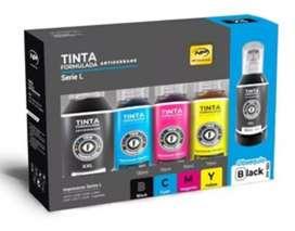 Kit Tinta Formulada Antiderrame EPSON Serie L (Incluye 5 Botellas)